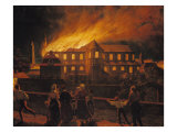 Fire at Cambrai Cathedral, 9th September 1859 Giclee Print by Abel Berger