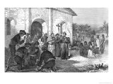 "Spanish Mission of the Alamo, from ""The Romance of Tragedy of Pioneer Life"" Giclee Print by William Ludlow Sheppard"