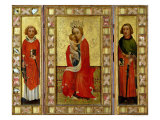 Madonna and Child with Saints Cyricus and Pancratius, circa 1380 Giclee Print by Aachen Master 