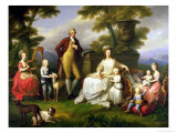 Ferdinand IV King of Naples, and His Family Lámina giclée por Angelica Kauffmann