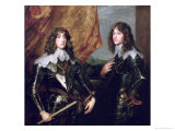 Prince Charles Louis Elector Palatine and His Brother, Prince Rupert of the Palatinate, 1637 Reproduction proc&#233;d&#233; gicl&#233;e par Sir Anthony Van Dyck