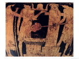 Attic Red-Figure Krater, Detail, Decorated with a Scene of Vulcan's Forge, 5th Century BC Giclee Print by Pan Painter