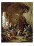 The Temptation of St. Anthony in a Rocky Cavern Giclee Print by David Teniers the Younger