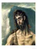 Ss. John the Evangelist and John the Baptist, Detail of the Baptist, 1605-10 Giclee Print by  El Greco
