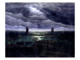 Sea Shore in Moonlight, 1835-36 Giclee Print by Caspar David Friedrich
