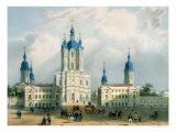 The Smolny Cloister in St. Petersburg, Printed by Edouard Jean-Marie Hostein Giclee Print by Jean-baptiste Bayot