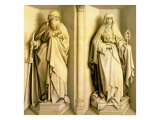 St. James the Great and St. Clare, Predella Panel from the Nuptials of the Virgin Giclee Print by Master of Flemalle 