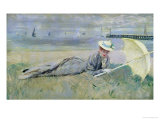 On the Beach Giclee Print by Paul César Helleu