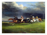 The Epsom Derby, 1821 Giclee Print by Th&#233;odore G&#233;ricault