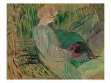 The Divan, Rolande, 1894 Giclee Print by Henri de Toulouse-Lautrec