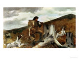 The Hunter and His Dogs, 1891 Giclee Print by Winslow Homer