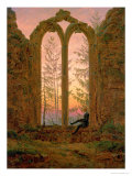 Ruins of the Oybin Monastery 1835-40 Giclee Print by Caspar David Friedrich