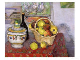 Still Life with Tureen, circa 1877 Premium Giclee Print by Paul Cézanne
