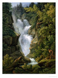 Waterfall in the Bern Highlands, 1796 Giclee Print by Joseph Anton Koch
