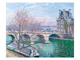 The Pont-Royal and the Pavillon de Flore, 1903 (Oil on Canvas Giclee Print by Camille Pissarro