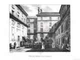 View of the Women's Yard at the Conciergerie Prison circa 1831 Giclee Print by Collard