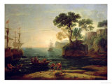 Arrival of Aeneas in Italy, the Dawn of the Roman Empire Giclee Print by Claude Lorrain
