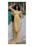 Girl with a Mirror, 1892 Giclee Print by John William Godward