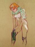 Woman Pulling up Her Stocking, 1894 Giclée-Druck von Henri de Toulouse-Lautrec