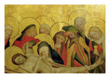 The Entombment, Panel from the St. Thomas Altar from St. John's Church, Hamburg, Begun in 1424 Giclee Print by Master Francke