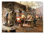 The Rolling Mill Giclee Print by Ferdinand Joseph Gueldry