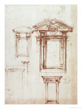 Study for a Window Giclee Print by  Michelangelo Buonarroti