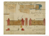 Plans and Elevations for the Red House, Bexley Heath, 1859 Lámina giclée por Philip Webb