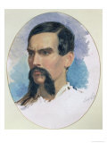 Portrait of Richard Burton, Orientalist and Explorer, circa 1861 Giclee Print by Louis Lesanges
