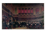 Louis Adolphe Thiers Acclaimed by the Deputies During a Meeting, 16th June 1877, circa 1878 Giclee Print by Benjamin Ulmann