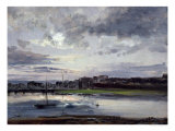 The Elbe and the New Town, Dresden, in the Evening Light, 1837 Giclee Print by Johan Christian Clausen Dahl
