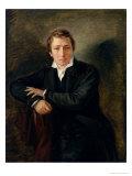 Portrait of Heinrich Heine 1831 Giclee Print by Moritz Daniel Oppenheim