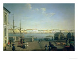 English Shore Street in St. Petersburg, 1790s Giclee Print by Benjamin Patersson