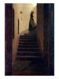 Lady on the Staircase Giclee Print by Caspar David Friedrich