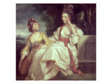 Hester Thrale with her Daugher Hester (also know as Queeney), Giclee Print