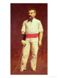 Richard Burton in Fencing Dress, 1889 Giclee Print by Albert Letchford