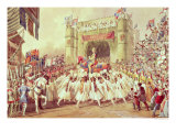 The Shower of Gold, Scene from Charles Kean's Production of Henry V, Princess Theatre, 1859 Giclee Print by F. Lloyds