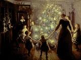 Viggo Johansen - Silent Night, 1891 Digitálně vytištěná reprodukce