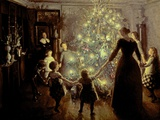 Silent Night, 1891 Giclee Print by Viggo Johansen