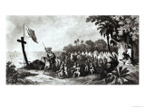 The Landing at Tampa Bay: de Soto and His Followers Swearing to Conquer or Die Giclee Print by R. Telfer