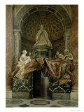 Monument to Alexander VII in the North Transept, 1672-78 Giclée-tryk af Bernini, Giovanni Lorenzo