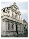 Facade of the Santa Maria Del Giglio, Built in 1680-83, with Sculptures Done by Giusto Le Court Giclee Print by Giuseppe Sardi