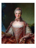 Portrait of Marie Adelaide 1756 Giclee Print by Jean-Marc Nattier