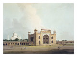 "The Taj Mahal at Agra, from ""Oriental Scenery: Twenty Four Views in Hindoostan"", 1796 Premium Giclee Print by Thomas Daniell"