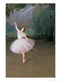 Ballerina Karsavina as Sylphide, 1910 Giclee Print by Savelij Abramovich Sorin