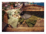 In a Rose Garden, 1889 Giclee Print by Sir Lawrence Alma-Tadema