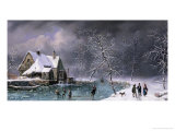 Winter Scene Giclee Print by Louis Claude Mallebranche