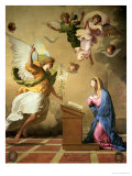 The Annunciation, Before 1652 Reproduction procédé giclée par Eustache Le Sueur