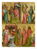 Joachim's Sacrifice and the Circumcision of Christ, from the Left Wing of the Buxtehude Altar Giclee Print by  Master Bertram of Minden
