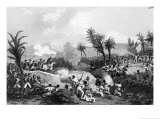 Black Revolt in Santo Domingo, 16th September 1802 Giclee Print by Jean Francois Pourvoyeur