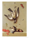Still Life of Dead Birds and Cherries, 1712 Giclee Print by Jean-Baptiste Oudry